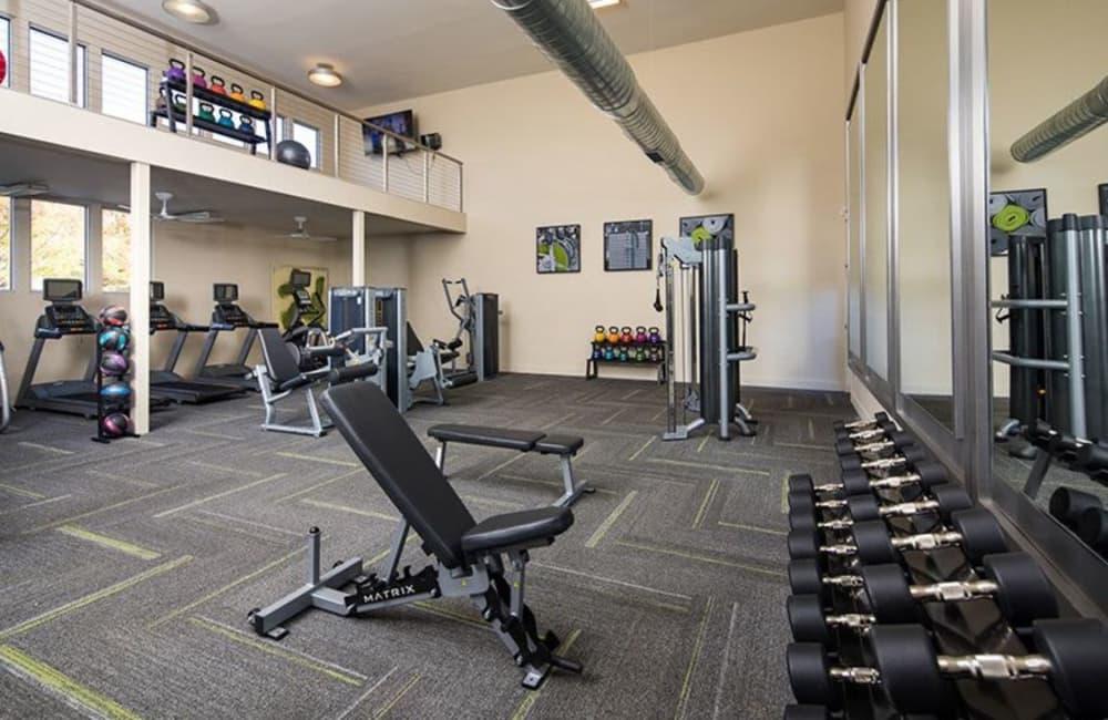 Onsite fitness center at Presley Oaks in Charlotte, North Carolina