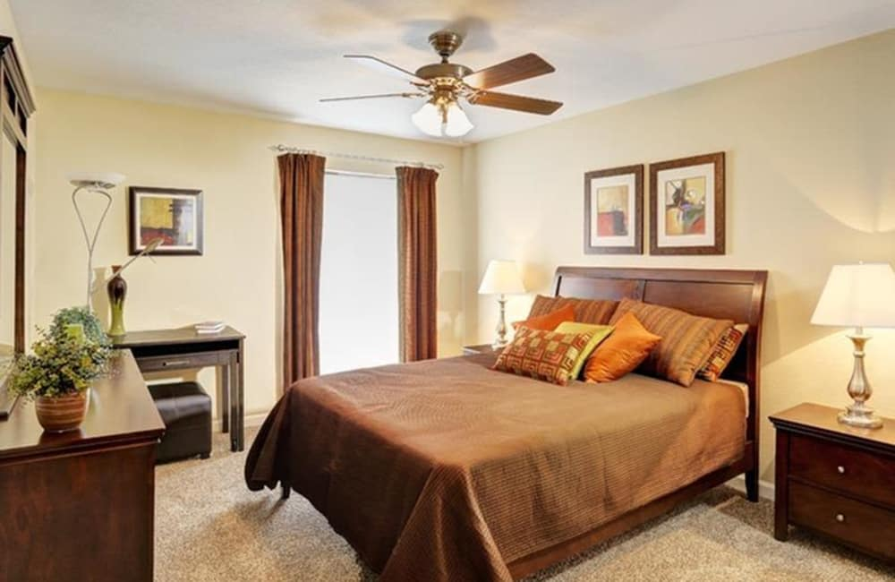 Master bedroom in model home at Allegro on Bell in Antioch, Tennessee