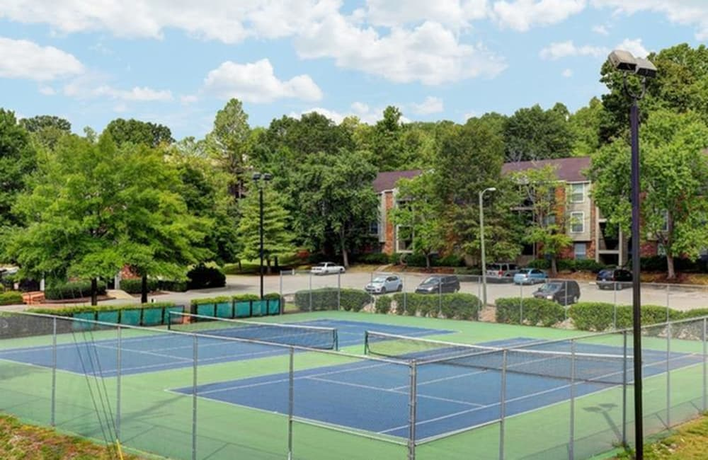 Tennis court on a beautiful day at Allegro on Bell in Antioch, Tennessee