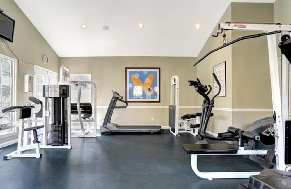 Well-equipped fitness center at Allegro on Bell in Antioch, Tennessee