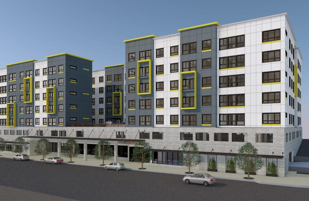 Exterior rendering of one of our Everett, Washington, communities at American Capital Group in Bellevue, Washington