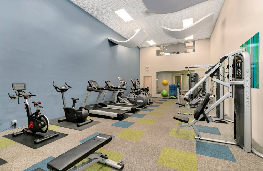 Newly Renovated Fitness Center at Autumn Chase Apartments