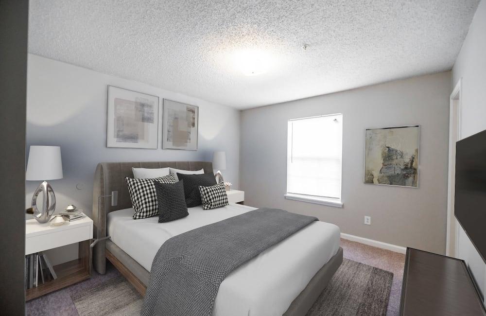 Master Bedroom at Kannan Station Apartment Homes in Kannapolis, North Carolina