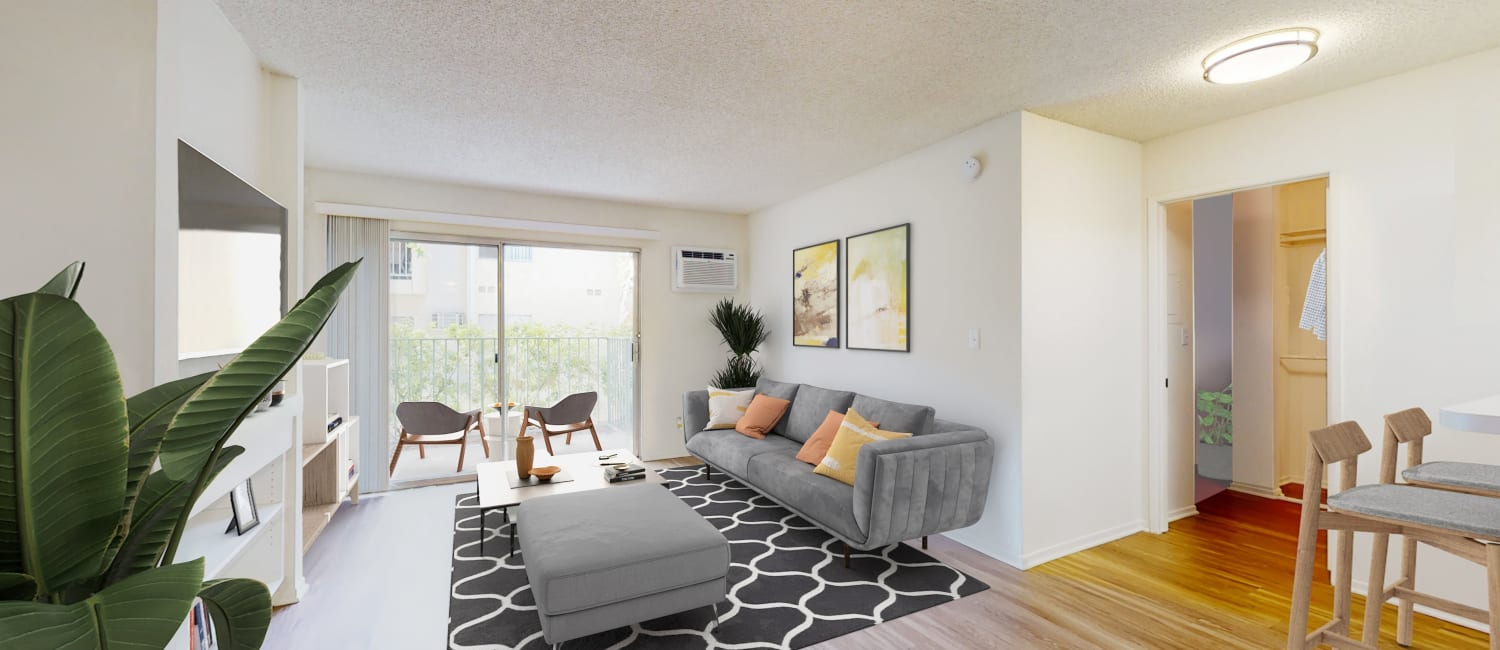 View a virtual tour of our 1 bedroom apartment home at Village Pointe in Northridge, California