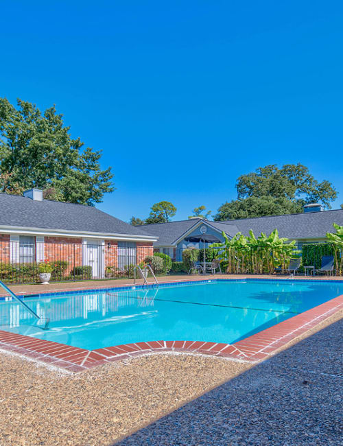 The community pool at Towne Oaks in Shreveport, Louisiana