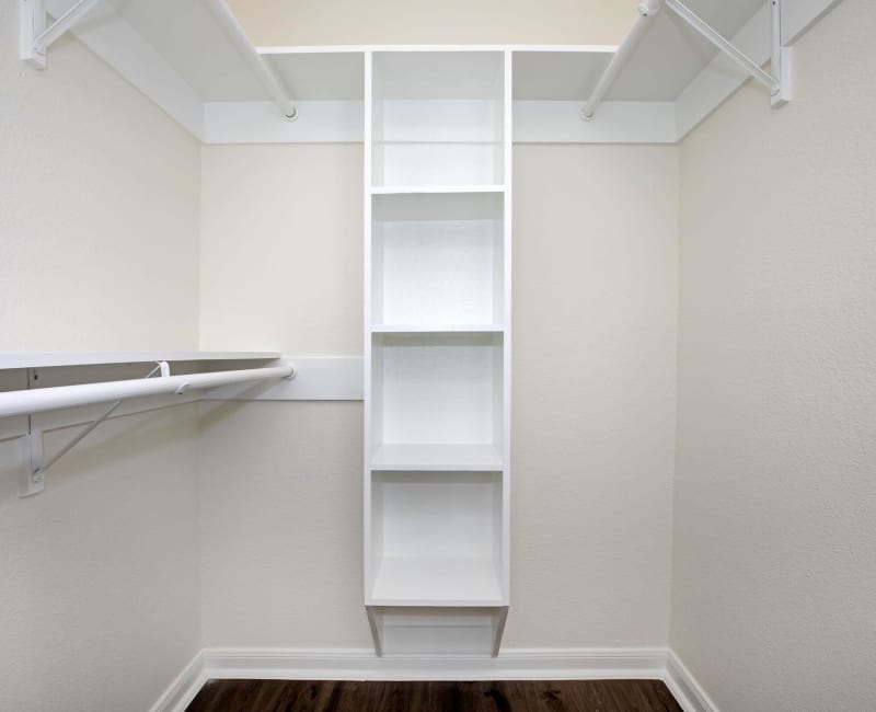 Spacious, walk in closet at Roundhill Townhomes in Houston, Texas