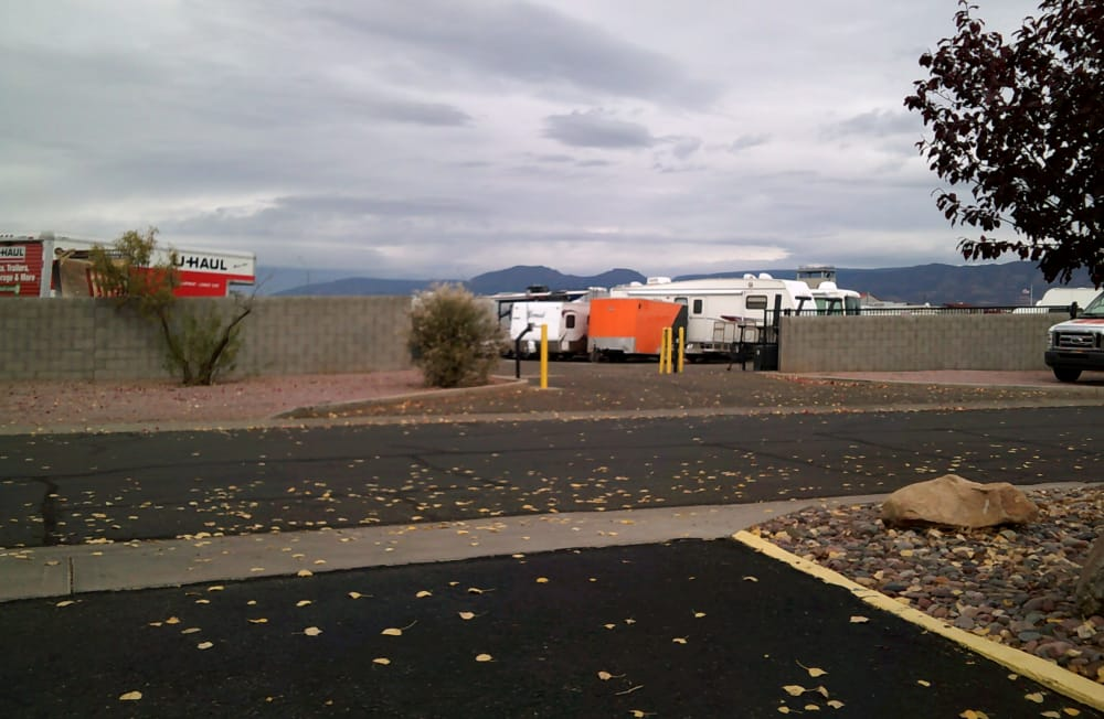 Street view of entrance to Prescott Valley RV & Self Storage