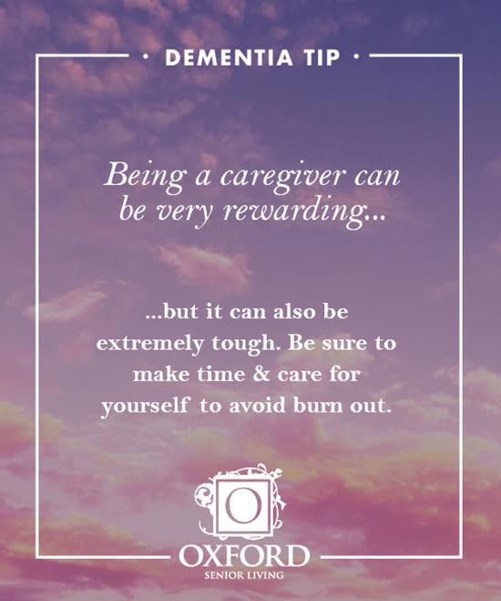 Dementia tip #1 for Oxford Glen Memory Care at Carrollton in Carrollton, Texas