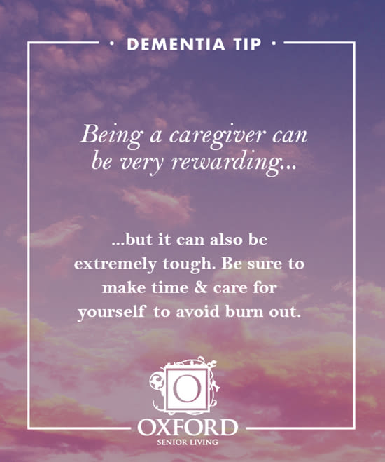 Dementia tip #1 for Oxford Glen Memory Care at Owasso in Owasso, Oklahoma