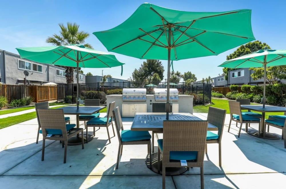 Enjoy the BBQ at apartments in San Mateo, CA