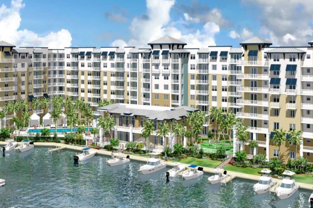 Rendering of apartments near Aquamarina Oceanside in Pompano Beach, Florida