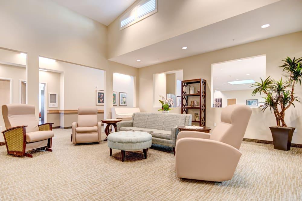 Comfortable lounge area at Juniper Springs Senior Living
