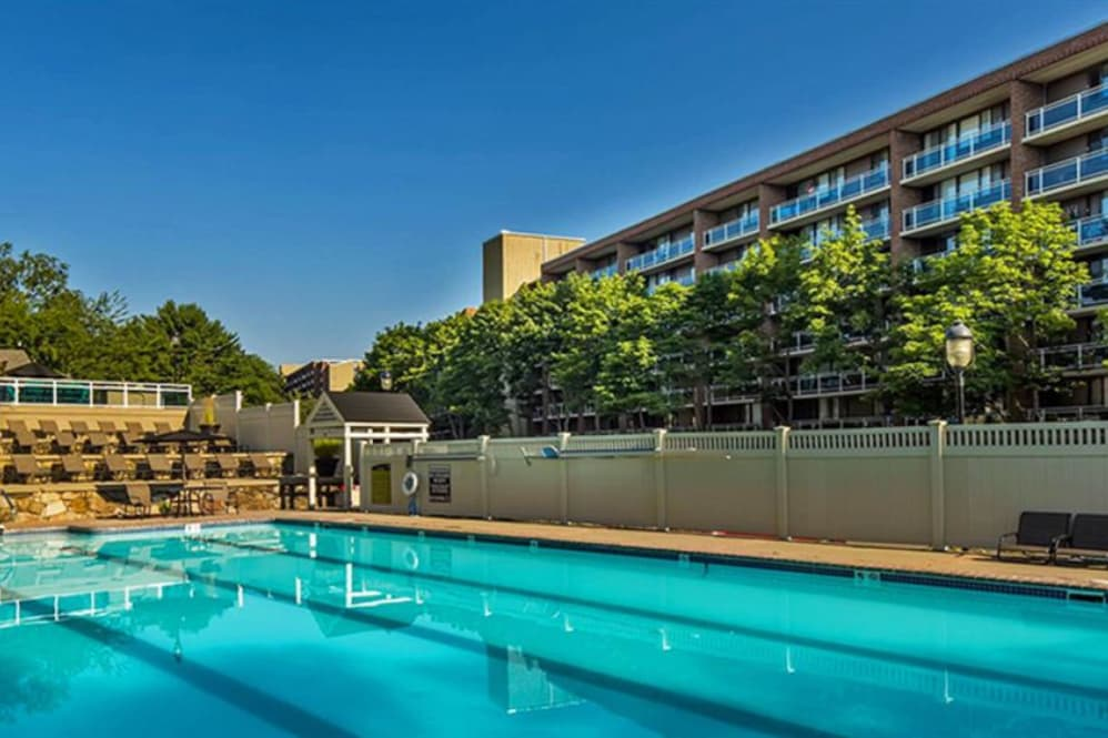 large swimming pool at Jefferson Hills Apartments in Framingham, MA