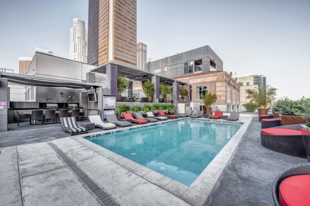 Rooftop pool at The Roosevelt