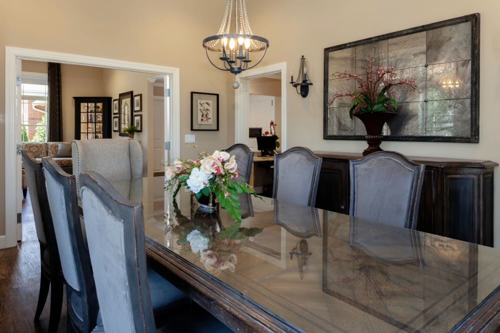 Private dining room at Cinco Ranch Alzheimer's Special Care Center in Katy, Texas.