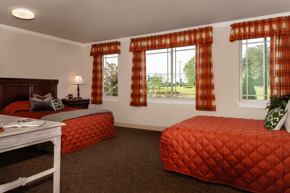 Model resident room at Cinco Ranch Alzheimer's Special Care Center in Katy, Texas.