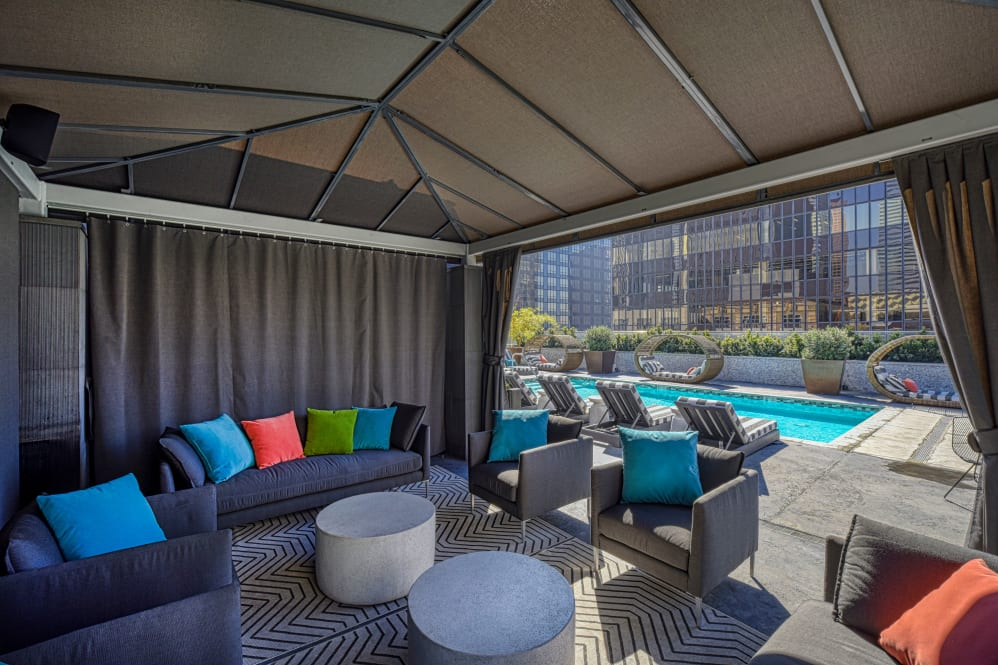 Relax by the pool at The Roosevelt