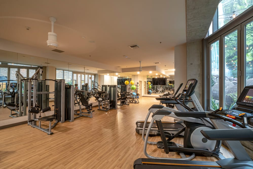 Fitness area at The Roosevelt