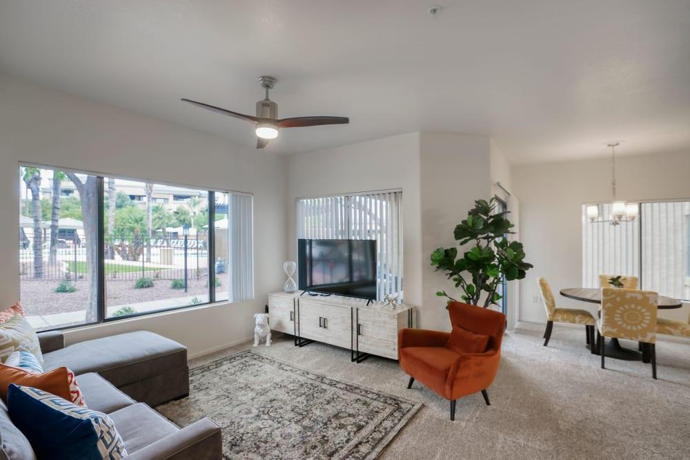 Bright spacious living area at Waterside at Ocotillo
