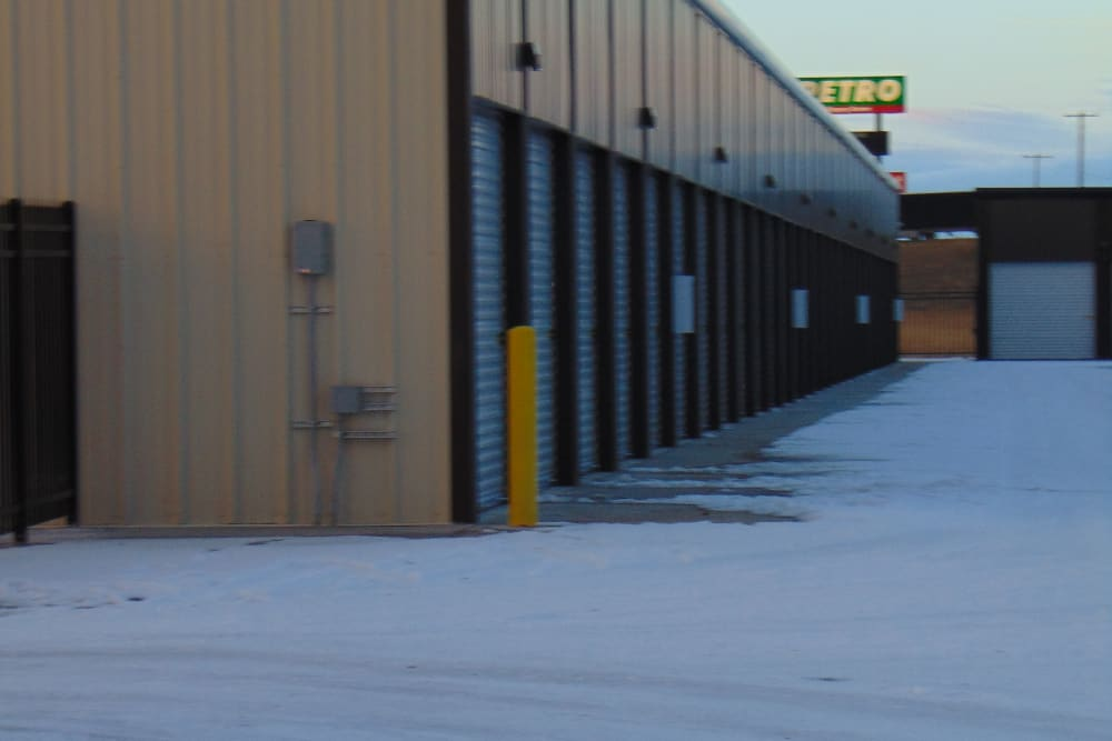 Exterior units at Laramie Self Storage in Laramie, Wyoming
