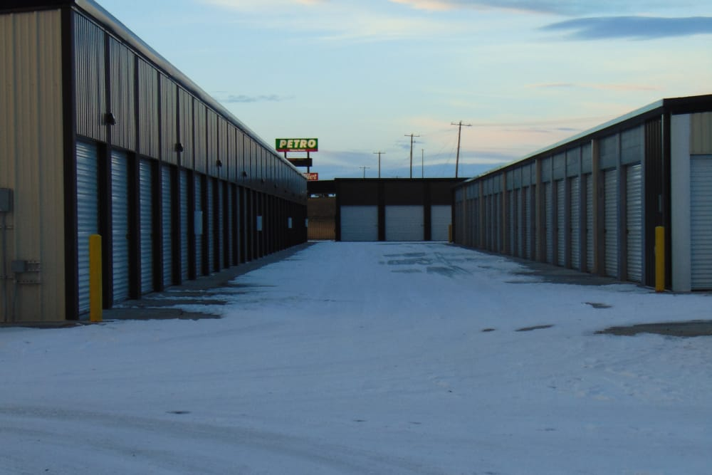 Drive-up units at Laramie Self Storage in Laramie, Wyoming