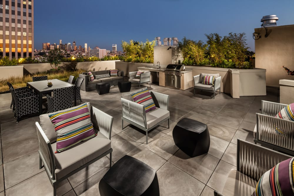 Rooftop lounge at Berkshire K2LA
