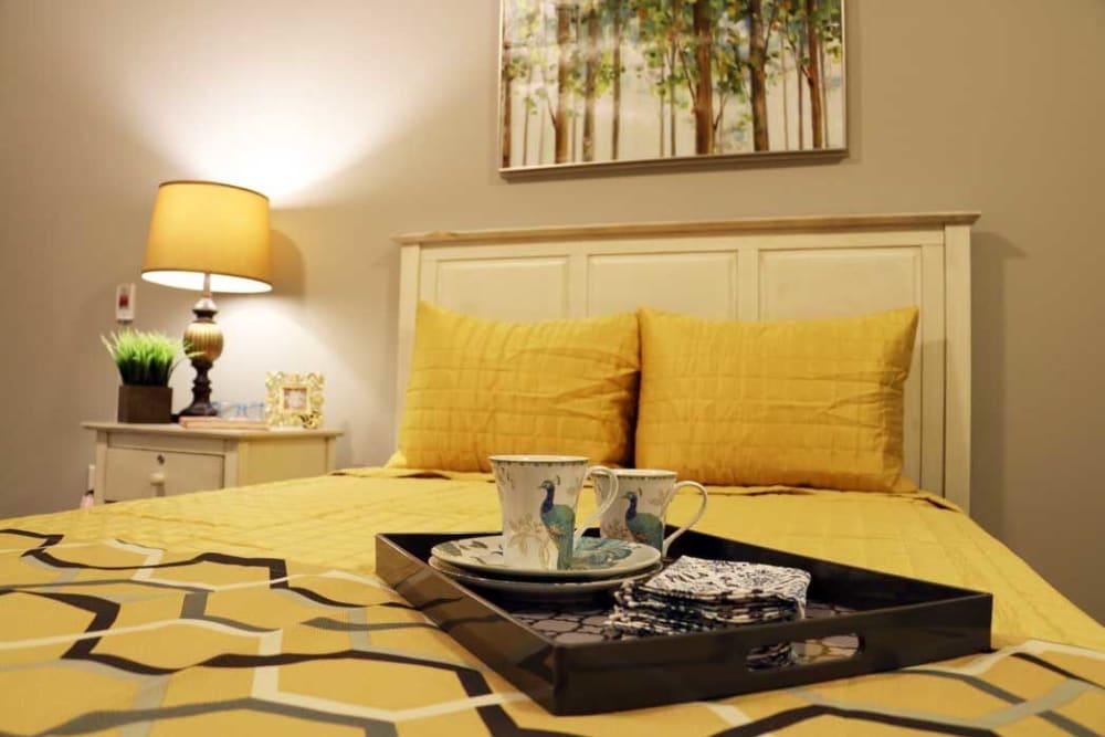 Master bedroom at Arbor Landing at Hampstead in Hampstead