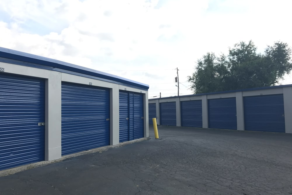 Exterior view of self storage units at Casino Self Storage