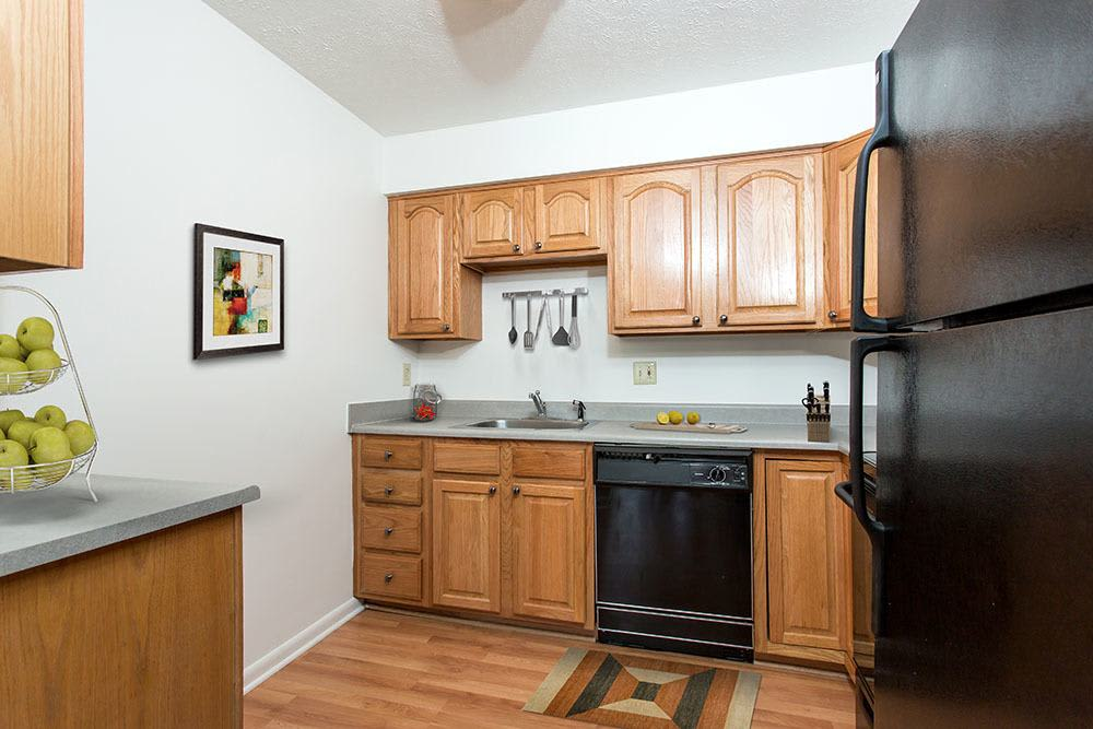 Example kitchen at Brighton Colony Townhomes