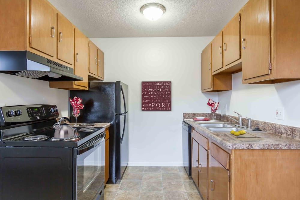 Bright kitchen at Penfield Village Apartments