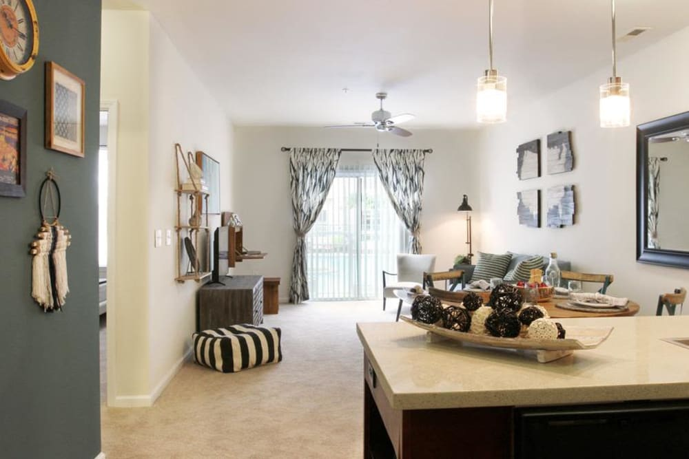 Luxury living room at Manor Six Forks in Raleigh, North Carolina