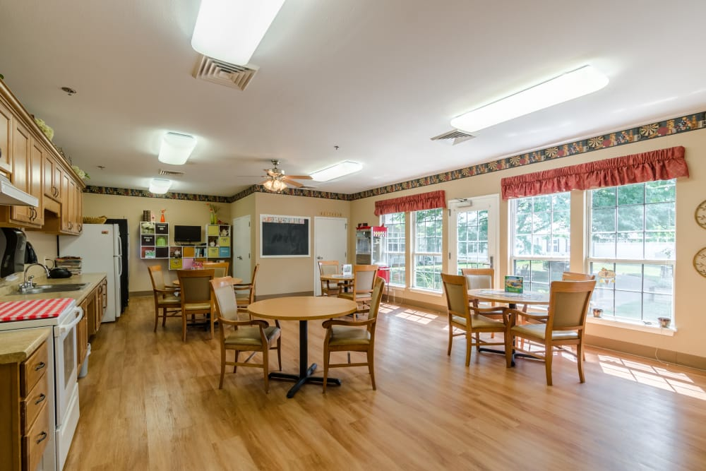 Plenty of space for senior living residents to socialize