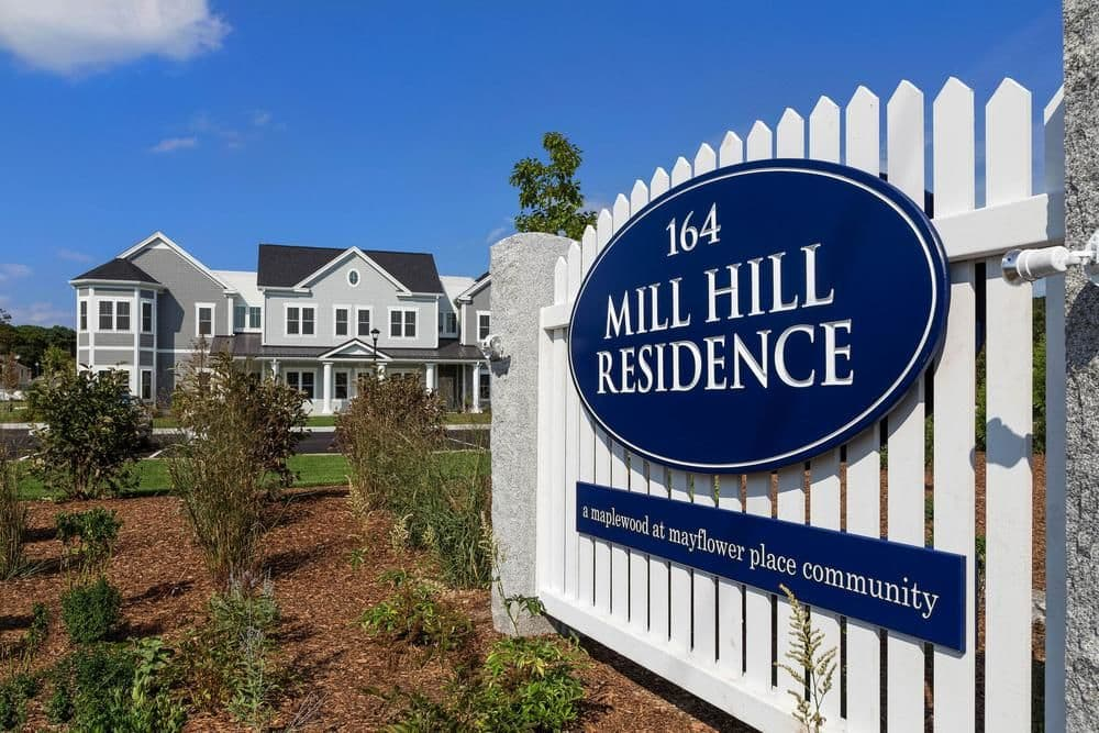 Community signage at Mill Hill Residence in West Yarmouth, MA
