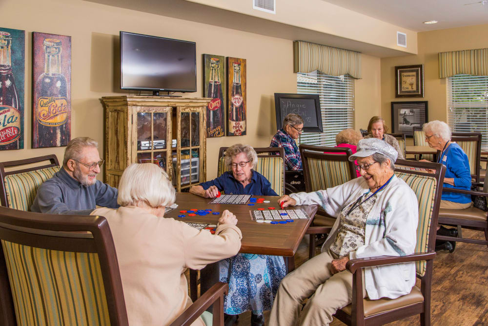 Residents have fun together at Park Wood Retirement Community
