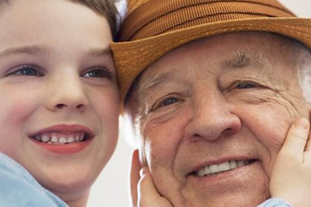 Grandson and grandpa in Las Vegas, Nevada