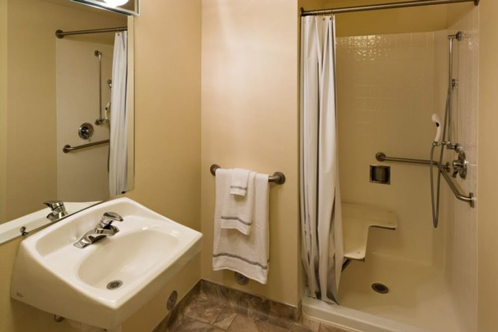 A very nice bathroom for seniors at The Wentworth at Draper