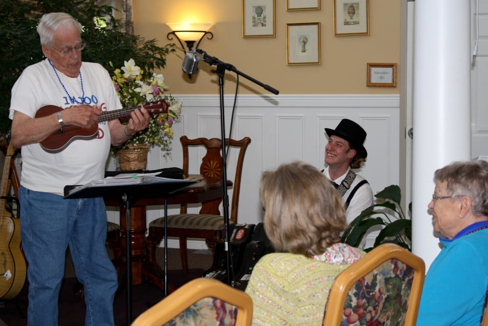 Residents perform for other residents