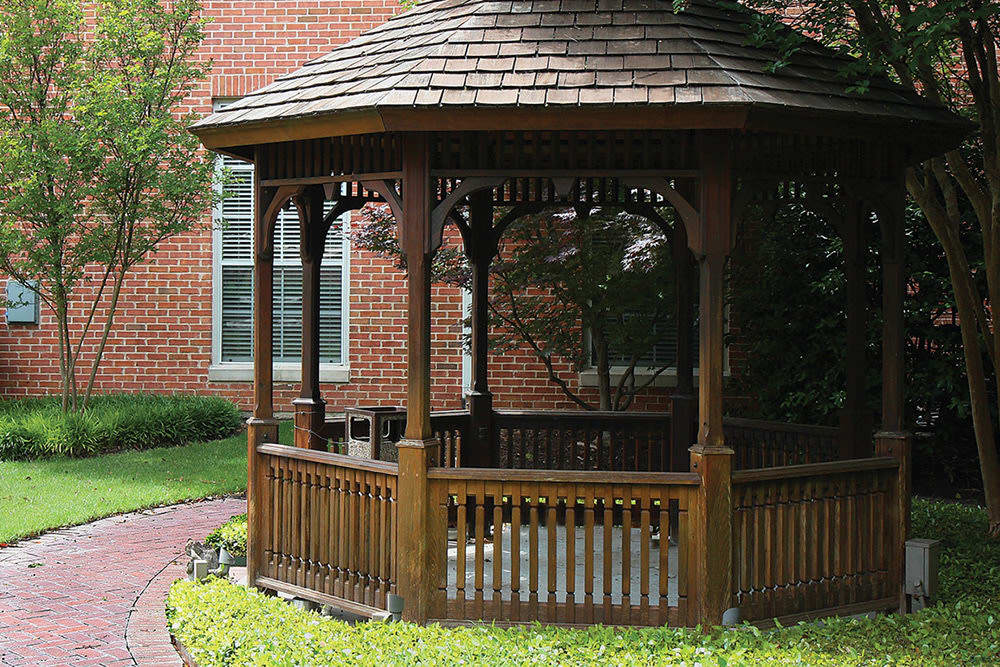 Gazebo at Caruth Haven Court in Dallas, TX