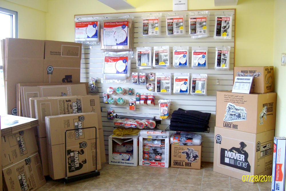 Boxes, Locks and Moving Supplies at CT SELF STOR in West Hartford