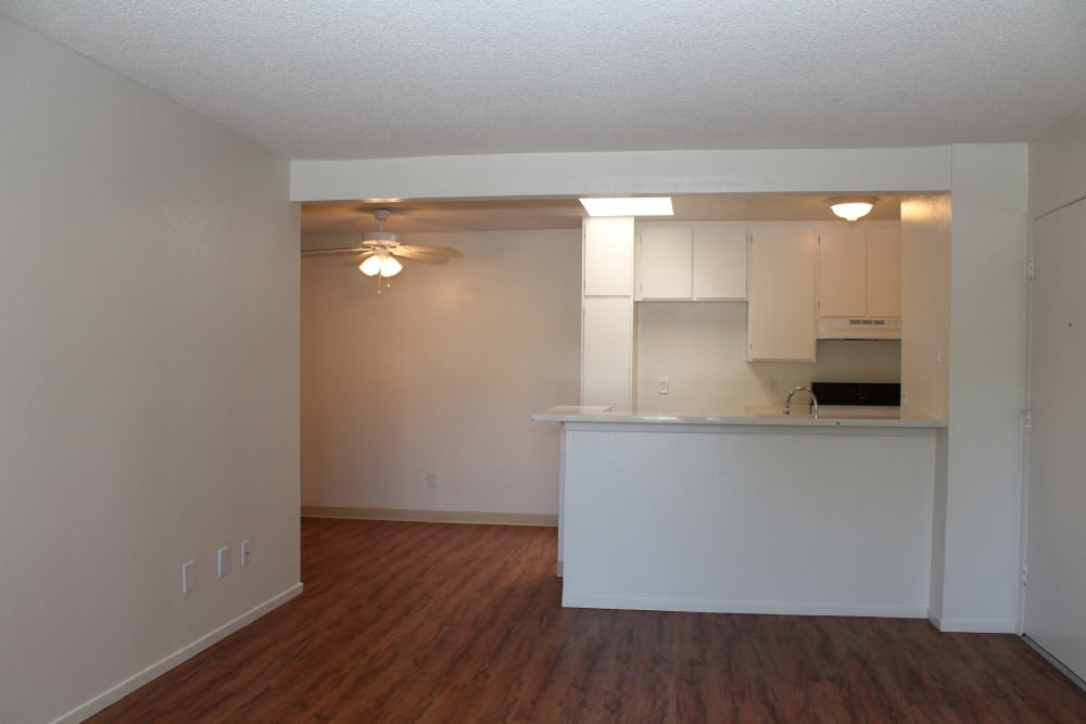 Apartments with hardwood flooring at Brookhollow Apartments