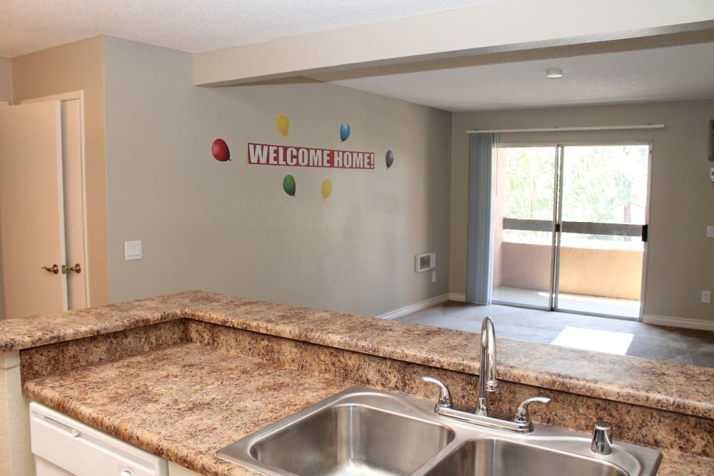 Granite style counter tops in Brookhollow Apartments homes