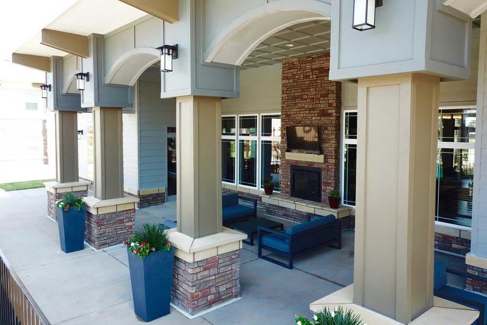 Outdoor Patio at the Clubhouse