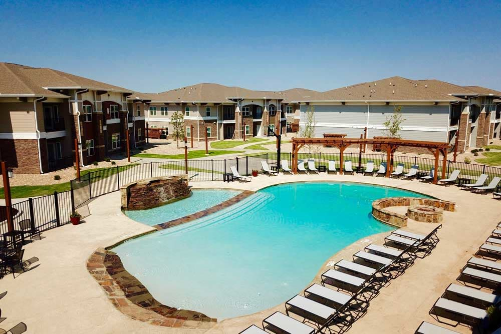 Outdoor pool at Preston Trails