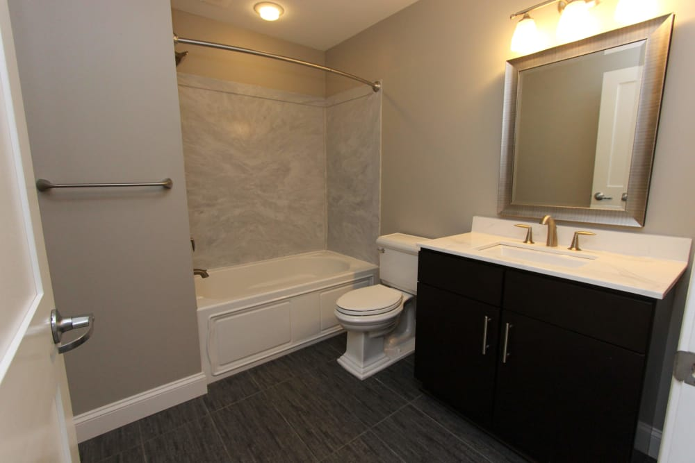Bathroom at 770 Elmwood Apartments