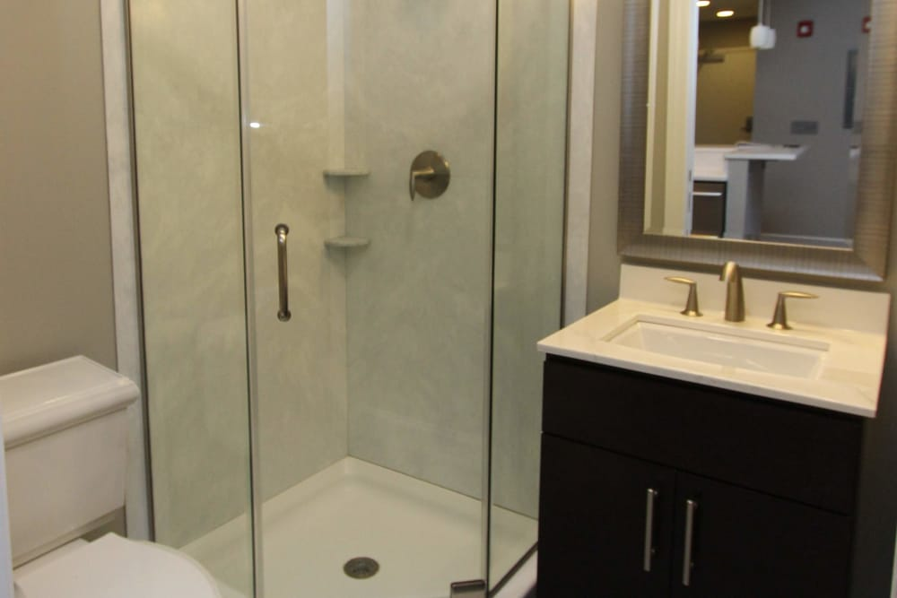 770 Elmwood Apartments offers a beautiful bathroom in Buffalo, NY