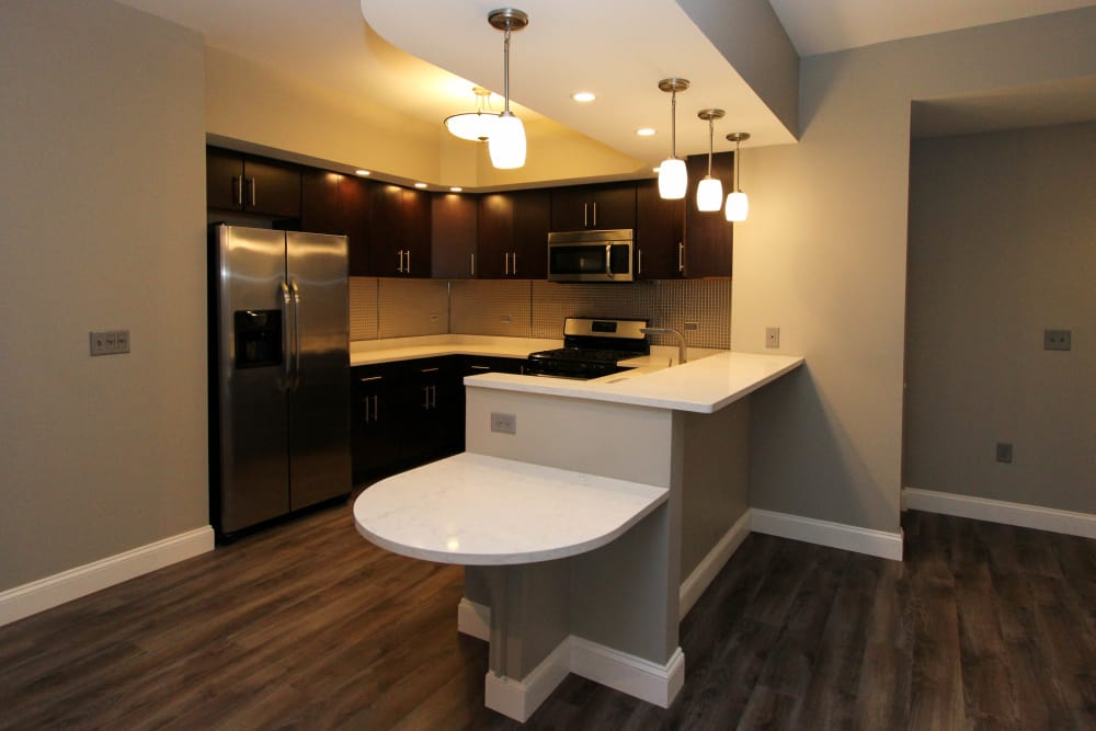 Beautiful kitchen at 770 Elmwood Apartments in Buffalo, NY