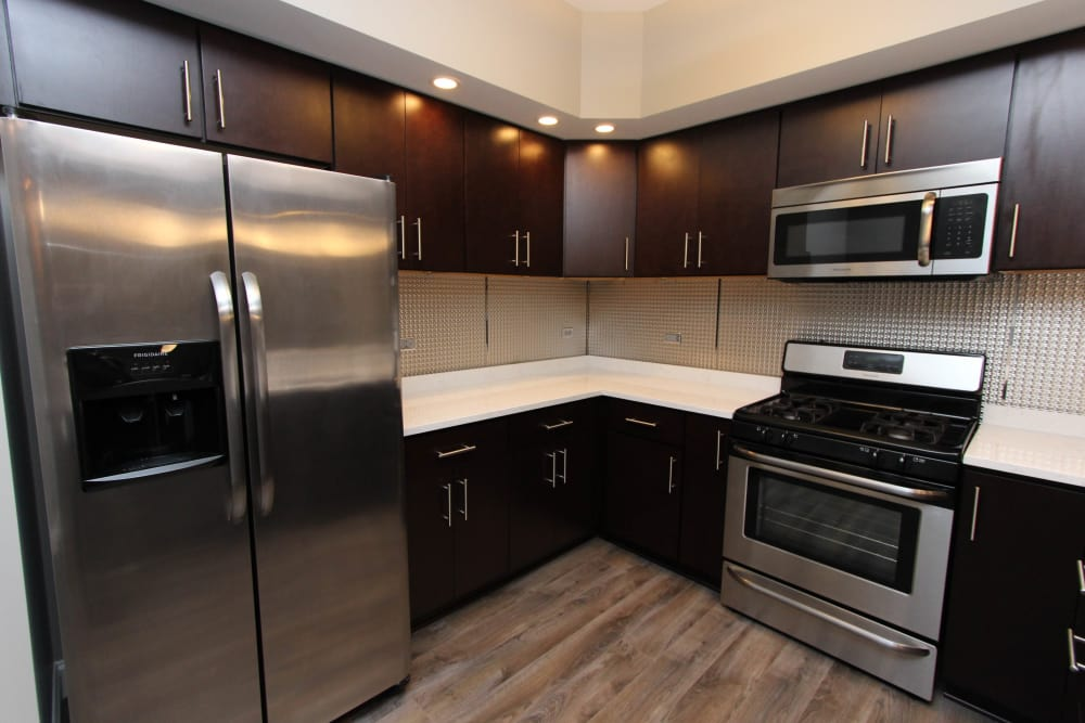 Well equipped kitchen at 770 Elmwood Apartments