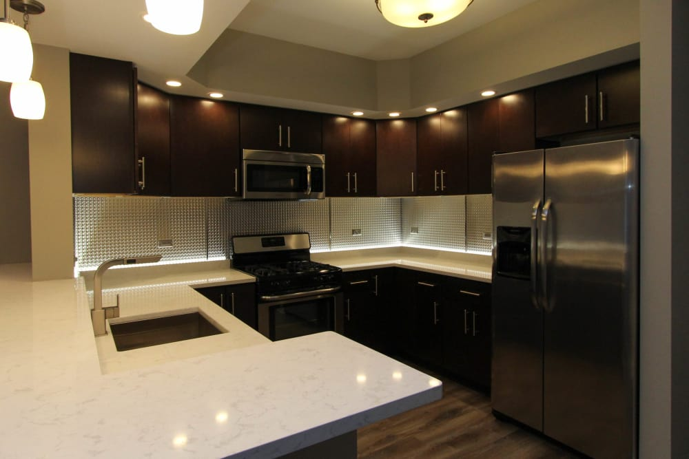 Enjoy a beautiful kitchen at 770 Elmwood Apartments