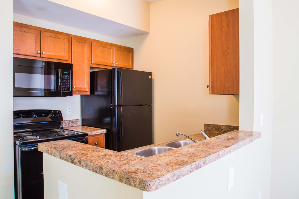 Apartments at The Meadows with well-equipped kitchen