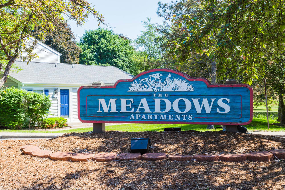 The Meadows signage